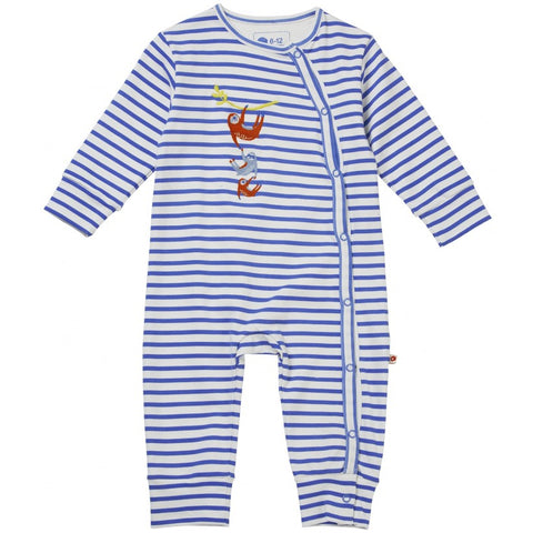 Image of Piccalilly Wrapover Romper - Sloth