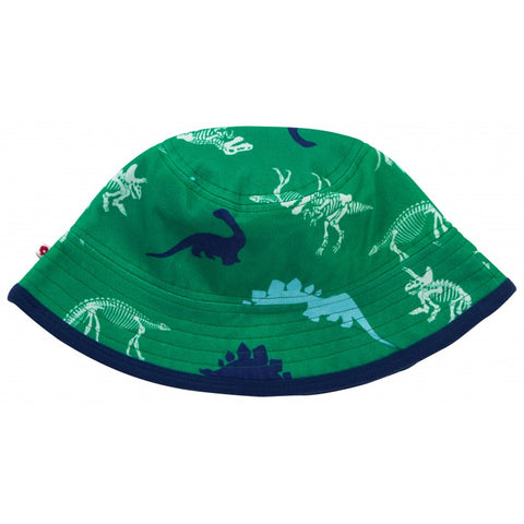 Image of Piccalilly Reversible Sun Hat - Dinosaur
