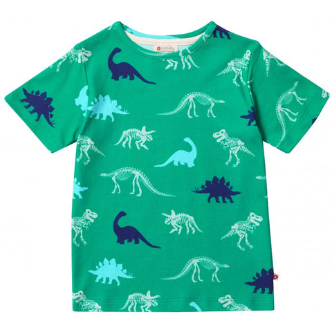 Image of Piccalilly All Over Print T-Shirt - Dinosaur