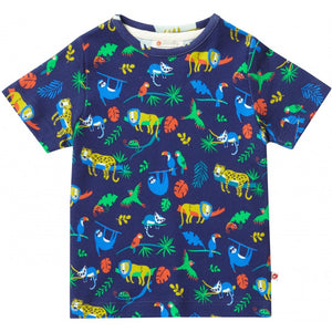 Piccalilly All Over Print T-Shirt - Safari