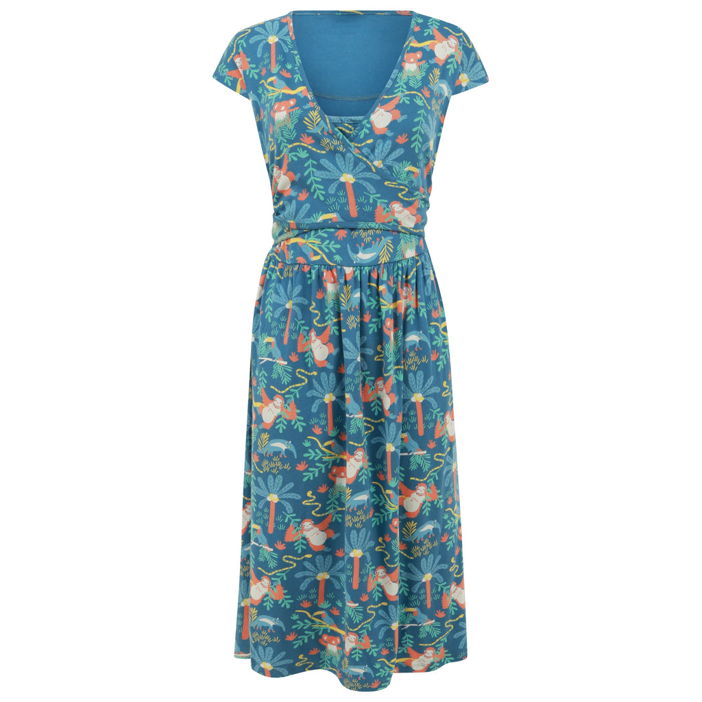 Piccalilly Women's Wrap Dress - Rainforest