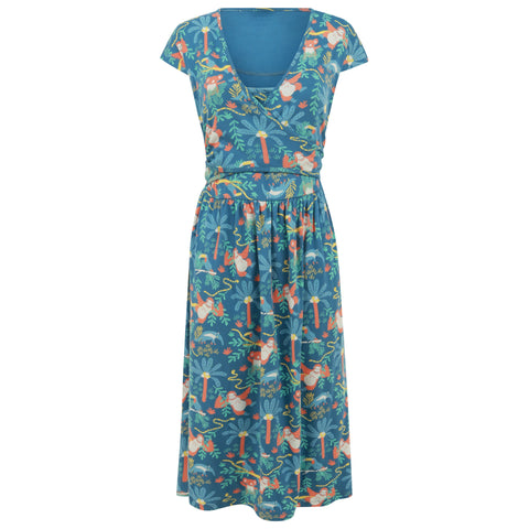 Image of Piccalilly Women's Wrap Dress - Rainforest
