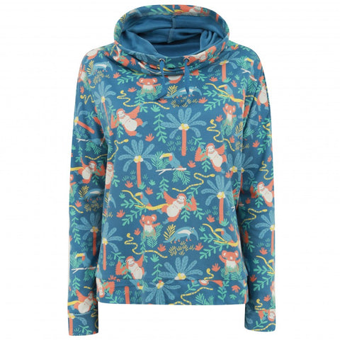 Image of Piccalilly Women's Sweatshirt - Rainforest Funnel Neck