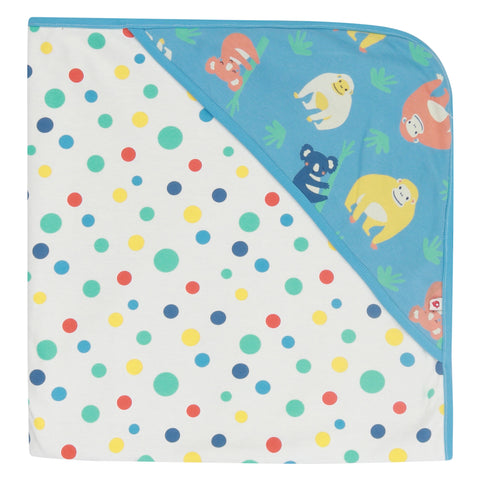 Piccalilly Hooded Baby Blanket - Orangutan