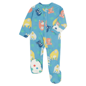 Piccalilly Footed Sleepsuit - Orangutan
