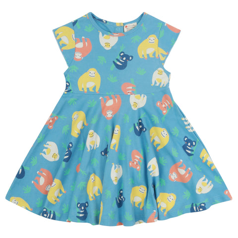 Piccalilly Skater Dress - Orangutan
