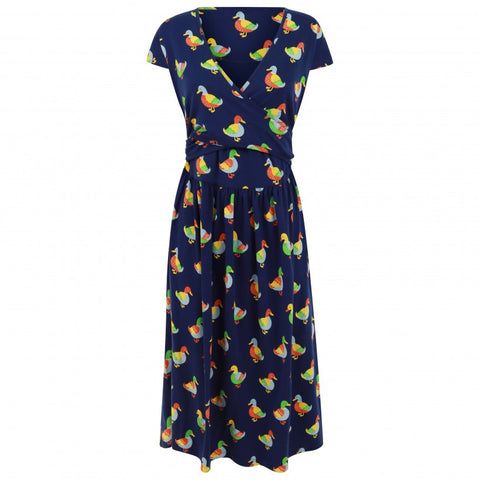 Image of Piccalilly Women's Wrap Dress - Duck