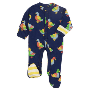 Piccalilly Footed Sleepsuit - Duck