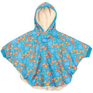 Piccalilly Adult Poncho - Foxes