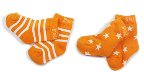 Image of Blade & Rose Socks 2 Pack - Orange Stripe/Star