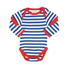 Image of Organic Cotton - Breton Stripe Baby Bodies 2 Pack