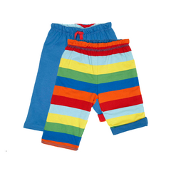 Blue Multi Stripe Reversible Trousers - Organic Cotton