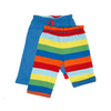 Image of Baby and toddlers Organic Cotton Blue Multi Stripe Reversible Trousers