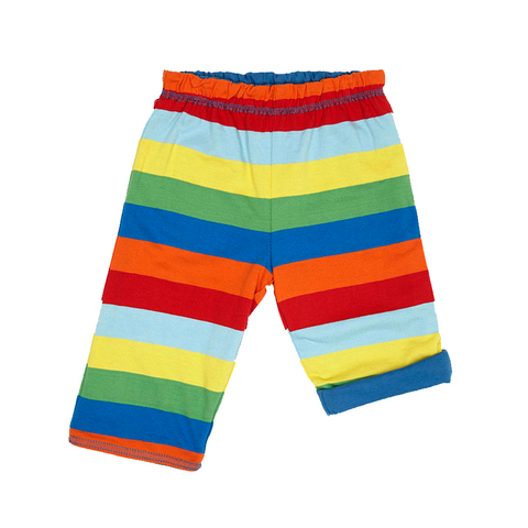 Baby and toddlers Organic Cotton Blue Multi Stripe Reversible Trousers