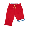 Image of Red Breton Stripe Reversible Trousers - Organic Cotton