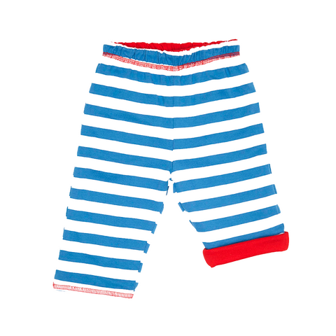 Red Breton Stripe Reversible Trousers - Organic Cotton