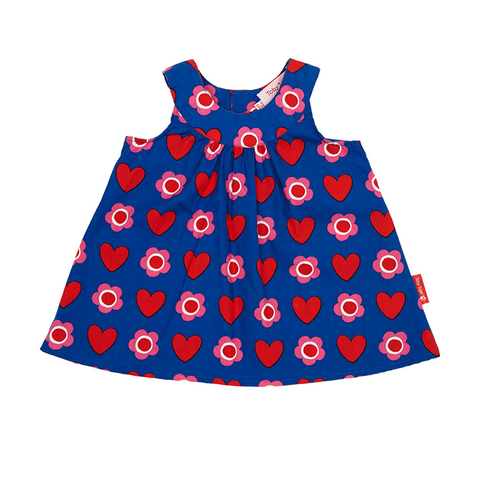 Image of Toby Tiger Heart Flower Baby Dress & Pants Set