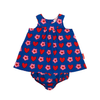 Image of Heart Flower Baby Dress & Pants Set