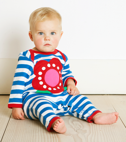 Image of Toby Tiger Flower Sleepsuit