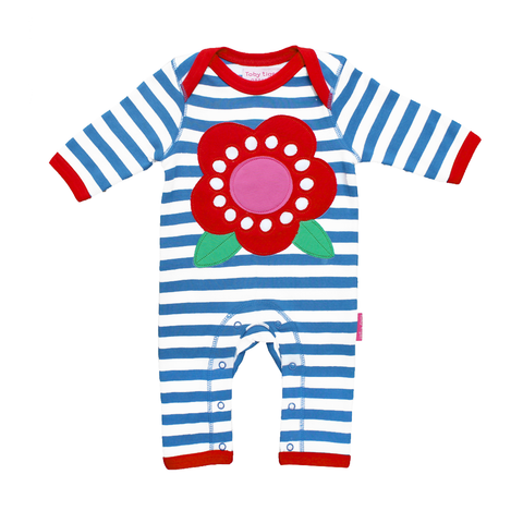 Toby Tiger Flower Sleepsuit