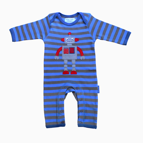 Robot Sleepsuit - Organic Cotton