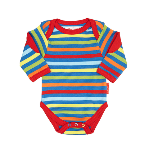 Toby Tiger Bold Stripe Baby Bodies 2 Pack