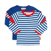 Image of Breton Stripe Long-sleeved T-Shirt 2 Pack - Organic Cotton