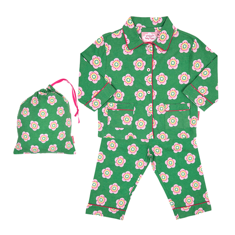 Brushed Cotton Pea Flower Pyjamas