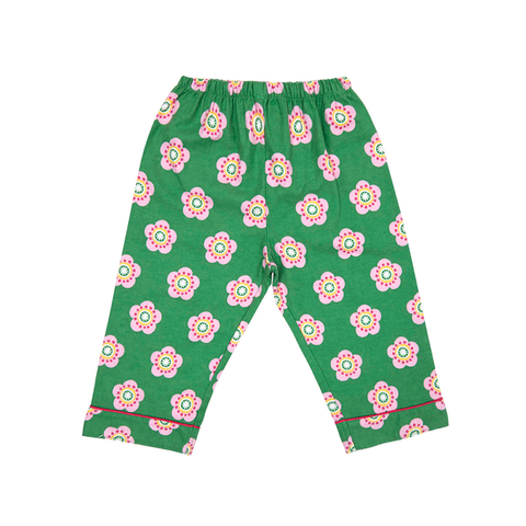 Image of Toby Tiger Brushed Cotton Pea Flower Pyjamas