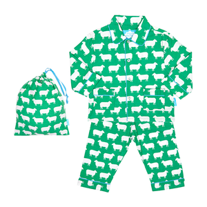 Toby Tiger Sheep Pyjamas - Brushed Cotton