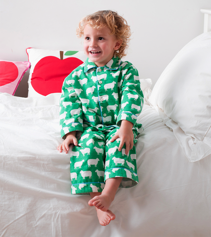 Toby Tiger Brushed Cotton Sheep Pyjamas