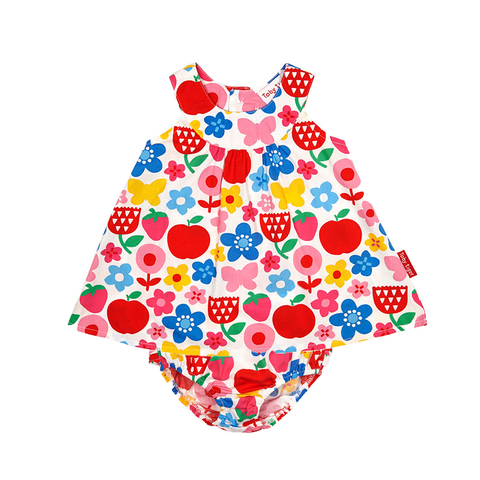 Image of Butterfly Flower Baby Dress & Pants Set