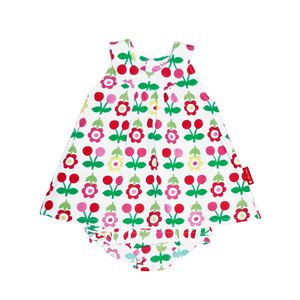 Toby Tiger Cherry Baby Dress & Pants Set