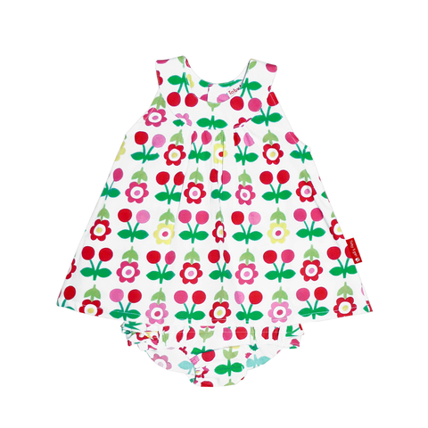 Image of Toby Tiger Cherry Baby Dress & Pants Set