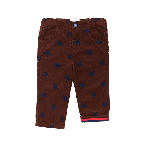 Brown Star Trousers - Cotton Cord