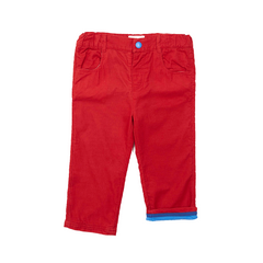 Red Trousers - Soft Cotton Cord