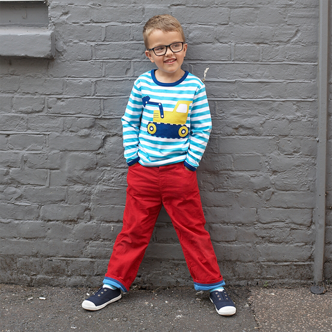 Image of Red Trousers - Soft Cotton Cord