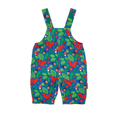 Squirrel Pattern Cord Dungarees