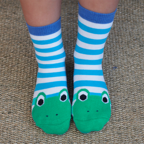 Image of Toby Tiger Cotton Frog Socks