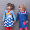 Image of Rainbow Cloud Dress - Organic Cotton