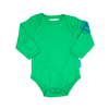 Image of Green Stripe Baby Bodies 2 Pack - Organic Cotton