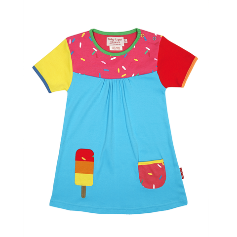 Ice Lolly T-Shirt Dress - Organic Cotton