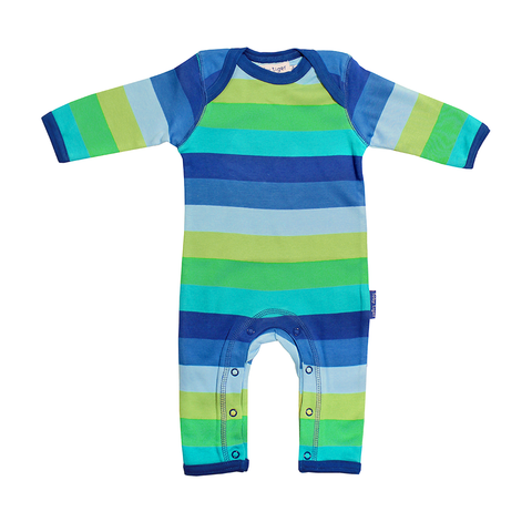 Organic Cotton - Blue Stripe Sleepsuit