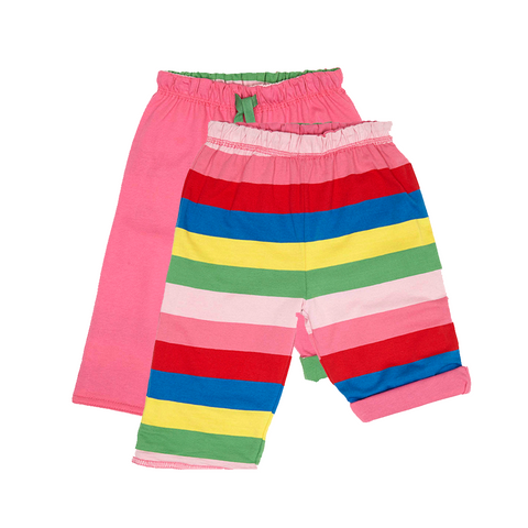 Image of Toby Tiger Pink Girly Stripe Reversible Trousers