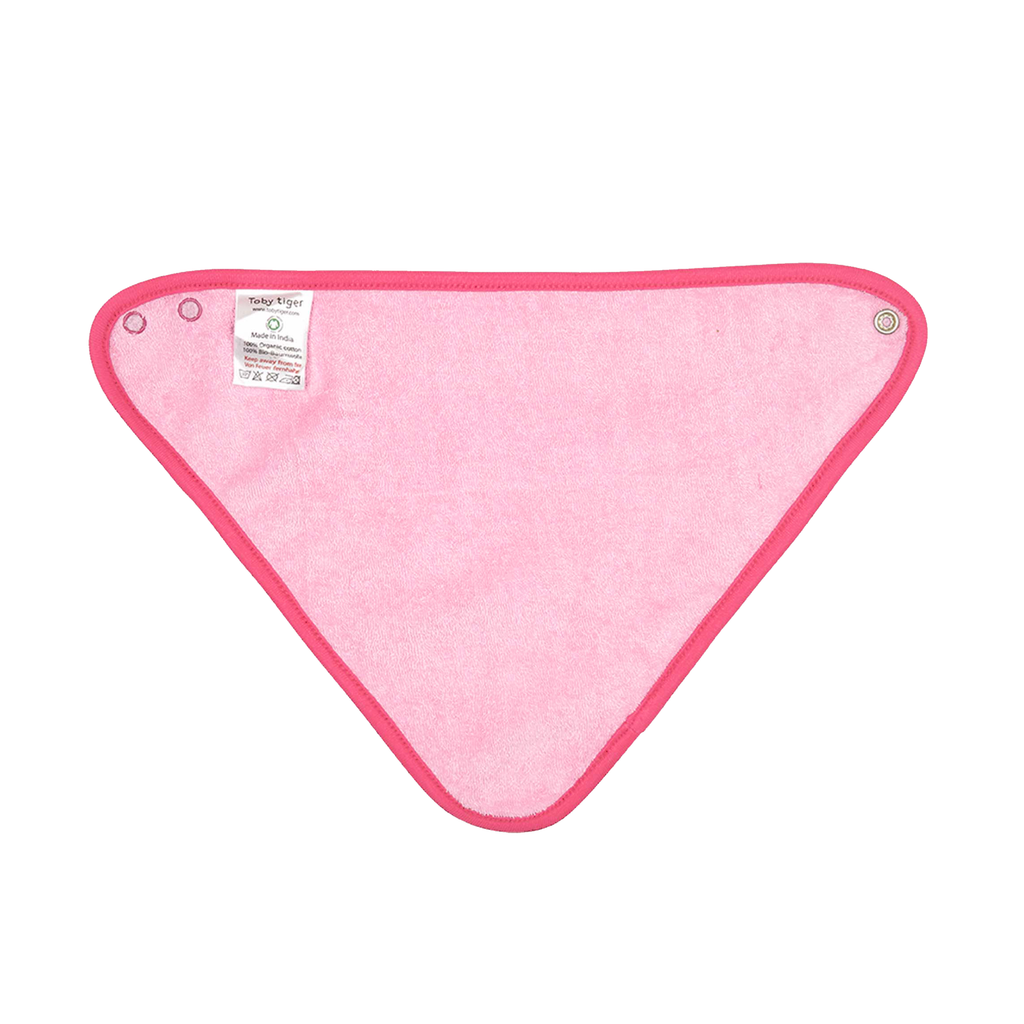 Organic Cotton - Pink Jungle Dribble Bib