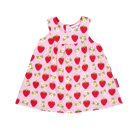 Image of Toby Tiger Strawberry Baby Dress & Pants Set