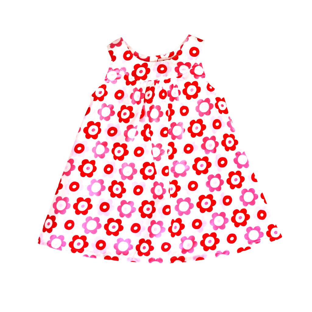 Pop Flower Baby Dress & Pants Set