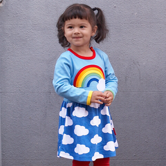 Rainbow Cloud Dress - Organic Cotton