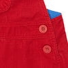 Image of Red Cord Dungaree Dress