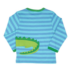 Crocodile Wrap Around Long-sleeved T-Shirt - Organic Cotton